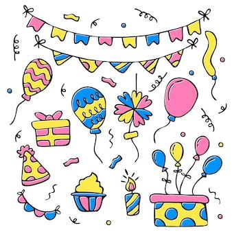Decoração festiva de festa de aniversário