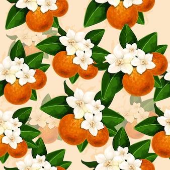 Decoração floral fundo com flor de laranjeira