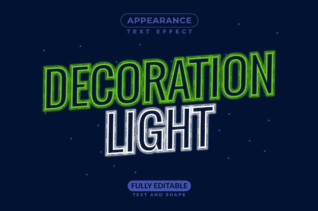 Decoração light christmas light efeito de estilo de texto grátis