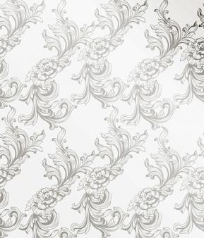 Decoração padrão de damasco para convite, casamento, cartões. ilustrações vetoriais