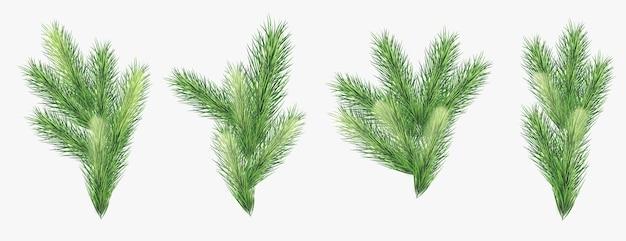 Decoração realista de árvore de natal