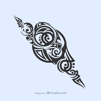 Decoração tribal tatuagem