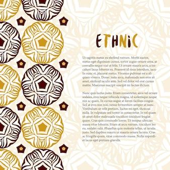 Decoração vetorial com ornamento étnico. textura da tradição