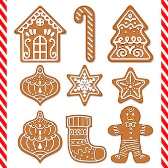 Decorações de biscoitos de gengibre bonito