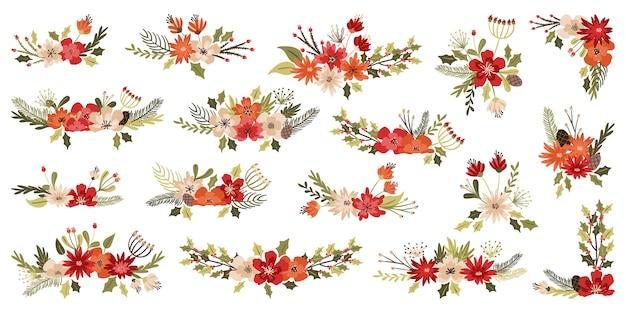 Decorações florais de natal