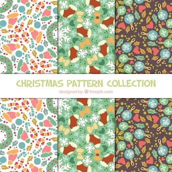Decorativas itens natal belos padrões