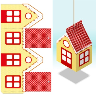 Decorativo, mudando a decoração da casa de papel em tamanho real, cortado