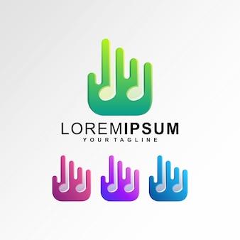 Dedo abstrato splash música ícone logotipo