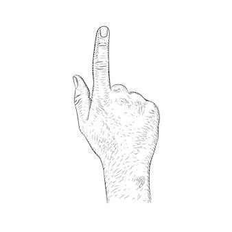 Dedo apontando para cima