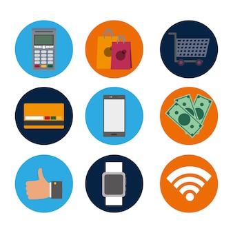 Defina a tecnologia nfc com a transação dataphone para compras