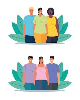 Defina cenas de pessoas multiétnicas, conceito cultural e de diversidade