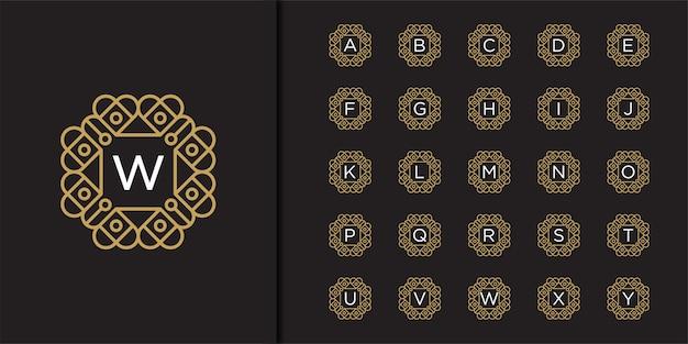 Defina letras modelo para criar monogramas de duas letras escritas em um círculo no estilo art nouveau