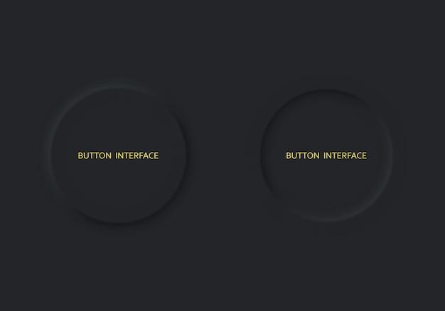 Defina o estilo de neomorfismo de cor preta de dois botões
