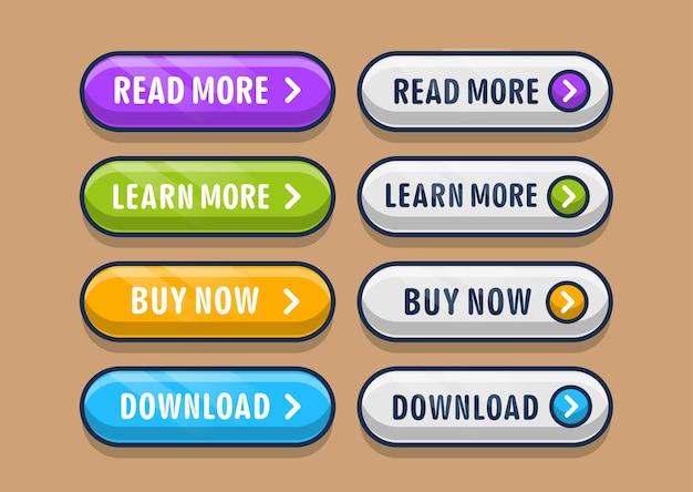 Defina uma coleção de botões de clique para o site