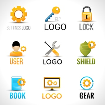 Definições conjunto de logotipos