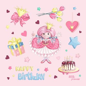 Definido para o aniversário de uma pequena princesa.
