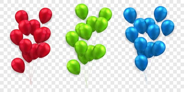 Definir a promoção do feriado do modelo de design de conceito de balões, ilustração do vetor de celebração do fundo.