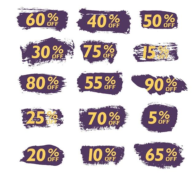 Definir a venda da escova de etiquetas de oferta especial ano novo preto sexta-feira cibernética segunda-feira vetor de preço com desconto