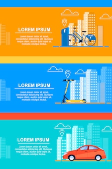 Definir aluguer de bicicletas. aluguer de scooter. aluguer de carros.