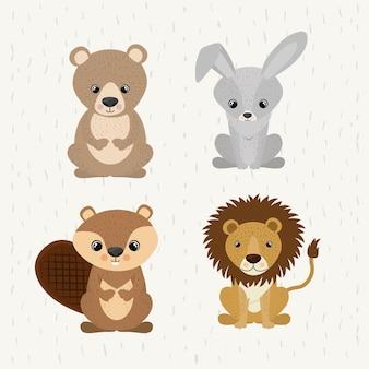 Definir animais fofos animais selvagens