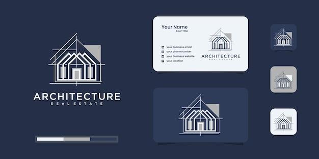 Definir arquitetura de logotipo com inspiração de design de logotipo de conceito de linha