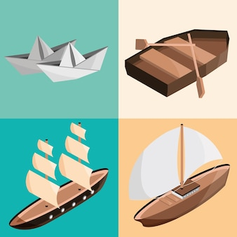 Definir barcos diferentes