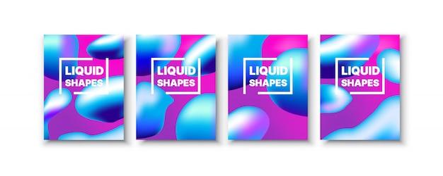 Definir bolha de respingo líquido abstrato de estilo de fundo