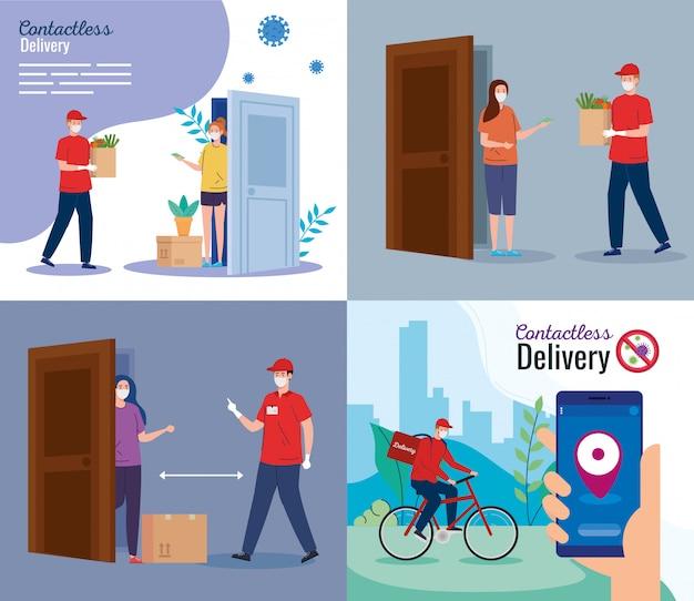 Definir cenas de correio de entrega seguro sem contato por covid-19