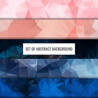 Definir coleção de design de fundo de polígono de cor abstrata