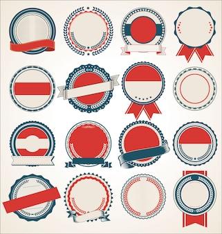 Definir coleção de emblemas vintage retrô em branco