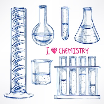 Definir com os frascos químicos