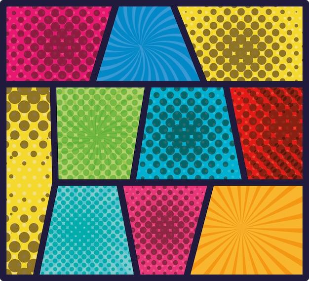 Definir cores padrão de rajada