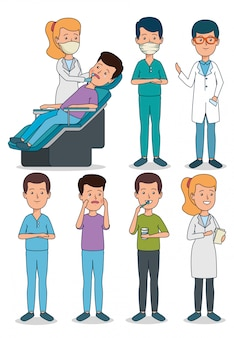 Definir dentista profissional com atendimento ao paciente e dentes