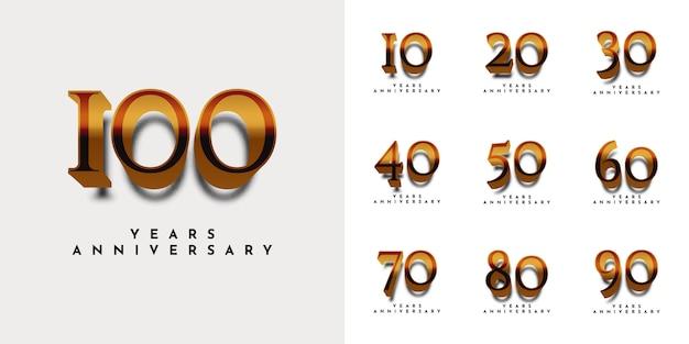 Definir design de modelo de aniversário de anos