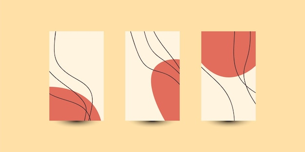Definir design de modelo de ilustração de fundo de capa abstrata