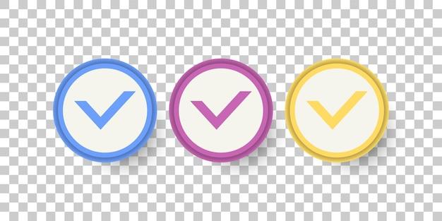 Definir design de modelo de símbolo de lista de verificação