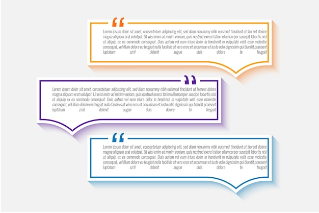 Definir design de modelo de texto de cotações