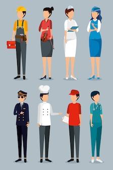 Definir dia de trabalho com empregadores profissionais