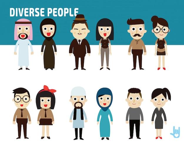 Definir diferença nacionalidade de pessoas de negócios