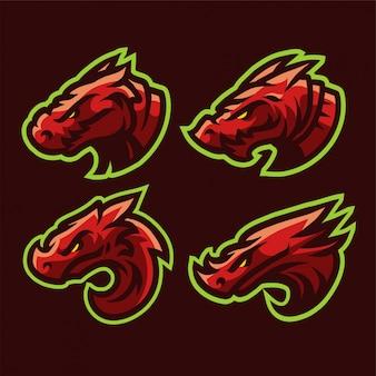 Definir dragão vermelho