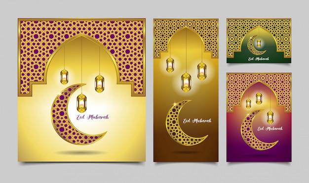 Definir eid mubarak 4 opção de cor