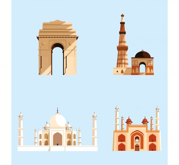 Definir estruturas arquitetura indiana emblemática