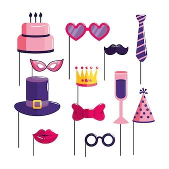Definir evento de decoração feliz aniversário