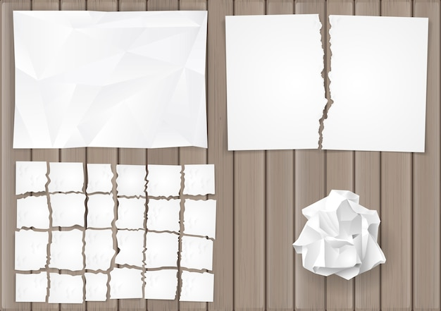 Definir folhas de papel amassadas