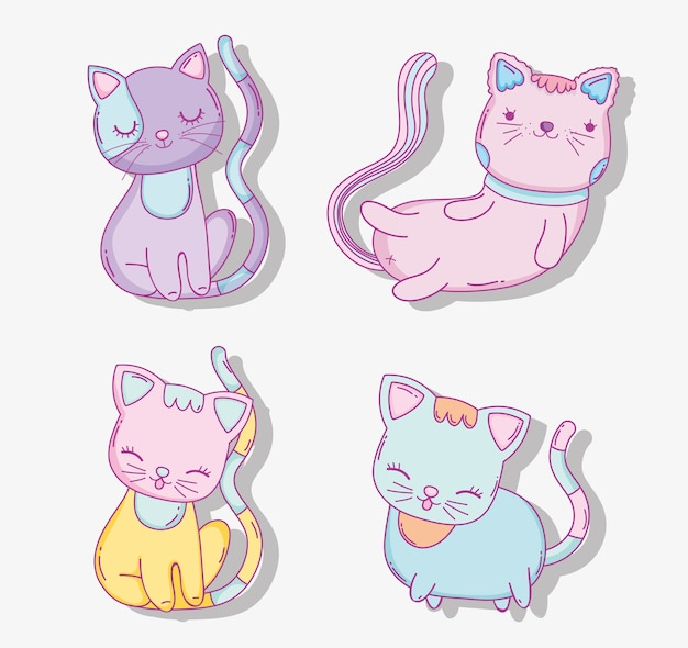 Definir gatos fofos animais domésticos