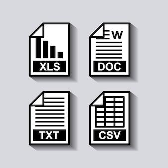 Definir ícone de formato de documentos