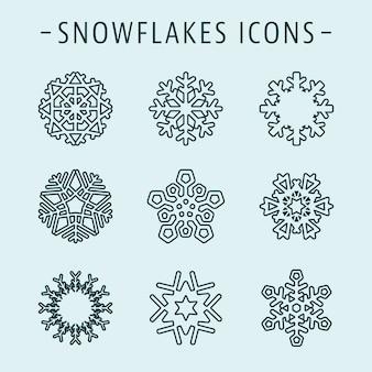 Definir ícones de flocos de neve