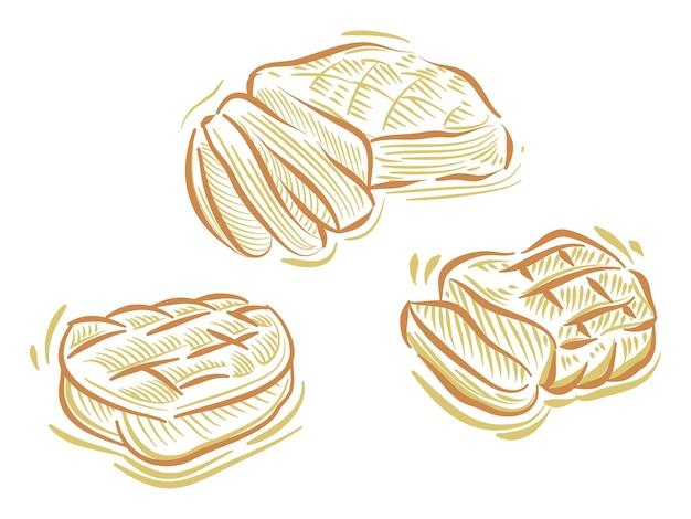 Definir ilustração plana de bife de carne para elemento de marca e logotipo