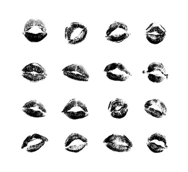 Definir impressões de beijos