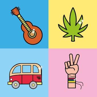 Definir instrumentos representativos para hippie